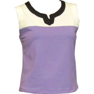 In-Between Plaket Tennis Tank (Pur/Wht/Blk)