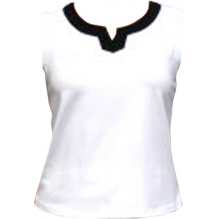In-Between Plaket Tennis Tank (Wht/Blk)