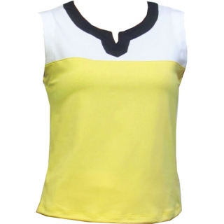 In-Between Plaket Tennis Tank (Ylw/Wht/Nvy)