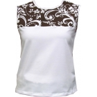 In-Between Swirl Tennis Tank (Blk/ Wht) - In-Between Women's Tops and Tanks Tennis Apparel