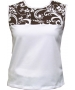 In-Between Swirl Tennis Tank (Bwn/ Wht) CLOSEOUT - In-Between Tennis Apparel