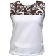 In-Between Swirl Tennis Tank (Bwn/ Wht) CLOSEOUT - In-Between Sale Tennis Apparel
