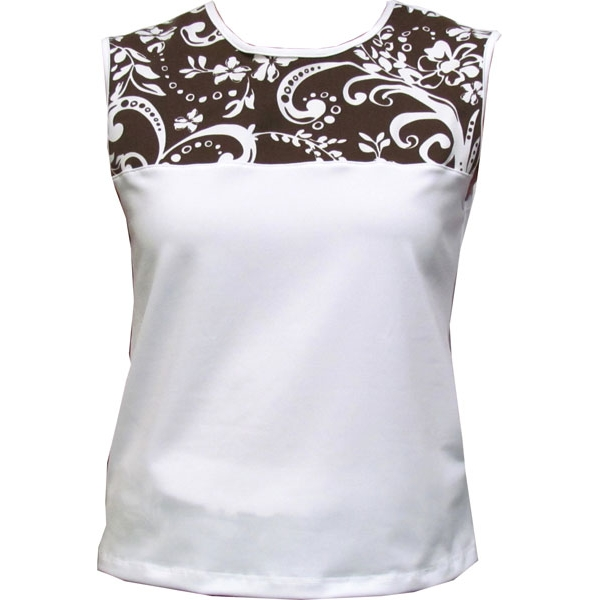 In-Between Swirl Tennis Tank (Brn/ Wht)