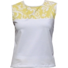 In-Between Swirl Tennis Tank (Ylw/ Wht) - In-Between Women's Tops and Tanks