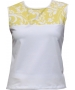 In-Between Swirl Tennis Tank (Ylw/ Wht) - In-Between Tennis Apparel