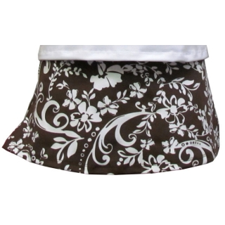 In-Between Swirl Wide-Band Tennis Skirt (Brn/ Wht)