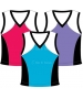 In-Between Tri-Color Tank (Plus Sizes) 54W (CLOSEOUT) - In-Between Tennis Apparel