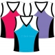 In-Between Tri-Color Tank (Plus Sizes) 54W (CLOSEOUT) - In-Between Sale Tennis Apparel
