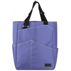 Maggie Mather Tennis Tote with Zipper Closure (Iris) - Maggie Mather