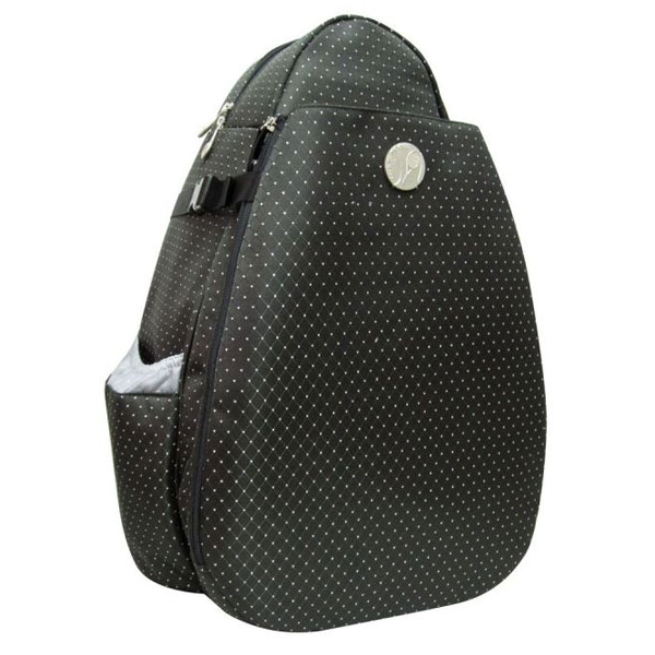 Jet Black Dot Deluxe Two Strap Tennis Bag