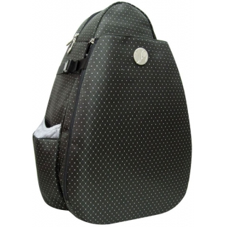 Jet Black Dot Large Sling Tennis Bag