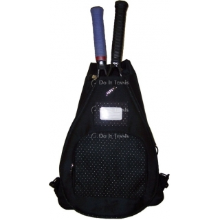 Jet Black Dot Sack Bag