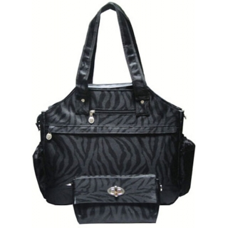 Jet Black Knight Tennis Tote