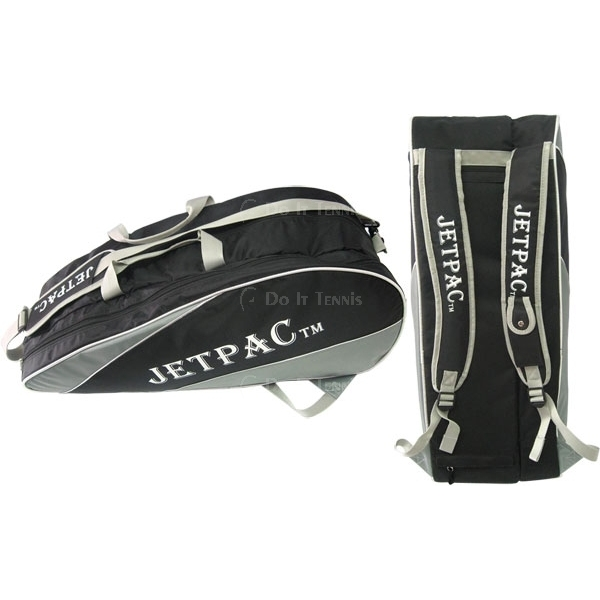 Jet Black with Grey Regular Pro Tennis Bag