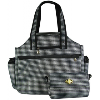 Jet Hounds Tooth Tennis Tote Bag
