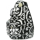 Jet Paisley Black & White Small Sling - Returning Best Sellers