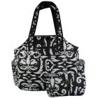 Jet Paisley Black & White  Tote - Returning Best Sellers