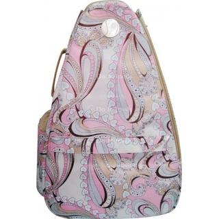 Jet Perfect Paisley (Pink) Small Sling Tennis Bag