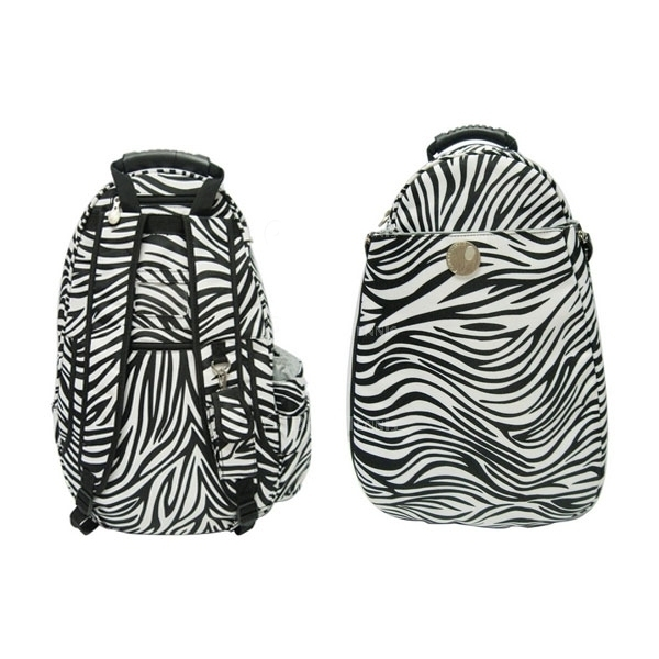 Jet Racing Stripes (Zebra) Two Strap Backpack