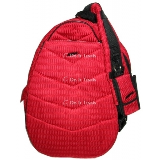 Jet Red Mesh Large Sling Tennis Bag