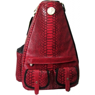 Jet Reptilian Scarlet Small Sling Convertible Tennis Bag