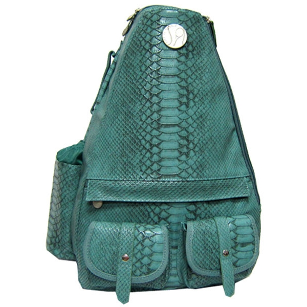 Jet Reptilian Teal Small Sling Convertible Tennis Bag