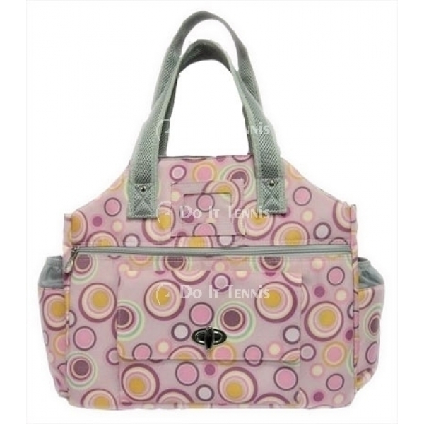 Jet Solar Circles Tennis Tote Bag