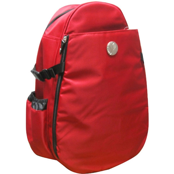 Jet Solid Red Nylon Deluxe Two Strap Tennis Bag