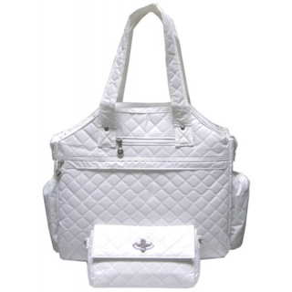 Jet White Ritz Tennis Tote