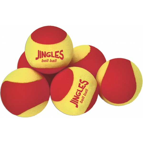 OnCourt OffCourt Jingles Bell Red Foam Training Tennis Balls (6 Pack)