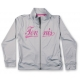 Little Miss Tennis Jacket w/ Side Pockets (Gry/ Pnk) - Little Miss Tennis Tennis Apparel