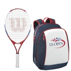 Wilson US Open Junior Racquet, US Open Backpack - Wilson Junior Tennis Racquets, Bags, Shoes and More