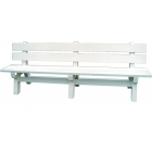 Jumbo Rain/Shine Bench #3239 - Shop the Best Selection of Tennis Court & Cabana Benches