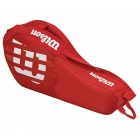 Wilson Junior Match 3 Pack Tennis Bag (Red/White) - Kids Tennis Bags - Tennis Backpacks for Girls and Boys