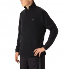K-Swiss Men's Long Sleeve Quarter Zip Tennis Pullover (Puma Black/Dark Shadow) - Men's Long-Sleeve Shirts