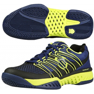 K-Swiss Men's Bigshot Tennis Shoe (Navy/ Optic Yellow)