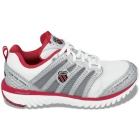 K-Swiss Men's Blade-Light Race (Wht/ Sil/ Red) - K-Swiss