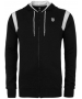 K-Swiss Men's Stitched Hoody (Blk/ Wht) - Men's Outerwear Tennis Apparel