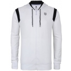 K-Swiss Men's Stitched Hoody (Wht/ Blk) - Men's Outerwear Jackets Tennis Apparel