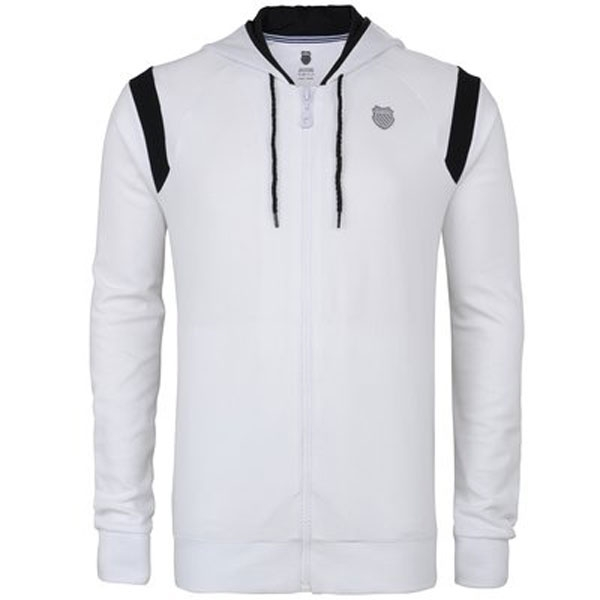 K-Swiss Men's Stitched Hoody (Wht/ Blk)