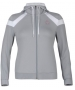 K-Swiss Women's Accomplish Hoody (Gry/ Wht) - K-Swiss Women's Apparel Tennis Apparel