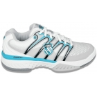 K-Swiss Women's Bigshot Shoes (White/ Blu/ Gry) - Women's Tennis Shoes