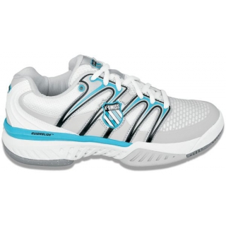 K-Swiss Women's Bigshot Tennis Shoe (White/ Blu/ Gry)