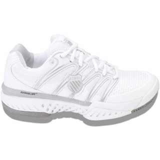 K-Swiss Women's Bigshot Tennis Shoe (White/Silver)