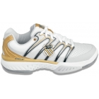 K-Swiss Women's Bigshot Shoes (Wht/ Blk/ Gld) - Women's Tennis Shoes