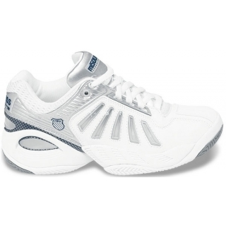 K-Swiss Women's Defier Misoul Tech Tennis Shoe (White/Silver)