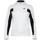 K-Swiss Women's Inset Full Zip Hoody (Wht/ Blk) - K-Swiss Tennis Apparel