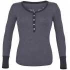 K-Swiss Women's Life Is Henley (Charcoal) - K-Swiss Tennis Apparel