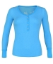 K-Swiss Women's Life Is Henley (Lt Blue) - K-Swiss Tennis Apparel