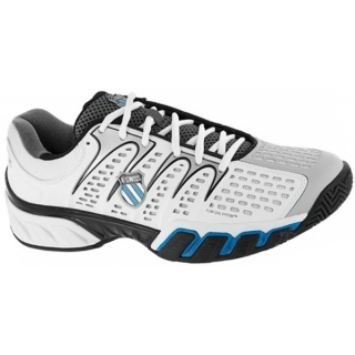 K-Swiss Men's Bigshot II Tennis Shoes (White/ Grey/ Black/ Blue)